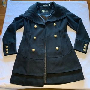 Guest women's used pea coat size small.